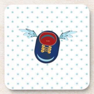 angel shoe coaster