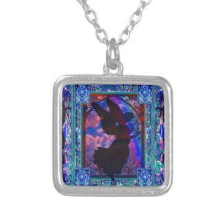 Angel Silhouette Silver Plated Necklace