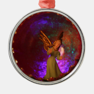 angel Silver-Colored round ornament
