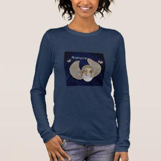 Angel Sisters Shirt for Women- Heavenly Blue/White