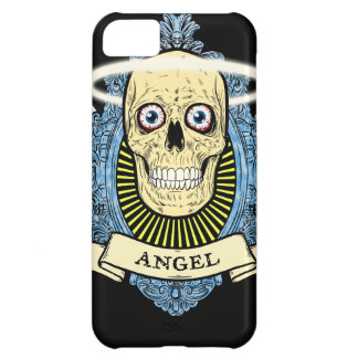 Angel Skull Skeleton with Halo with Bird Wings art iPhone 5C Cover
