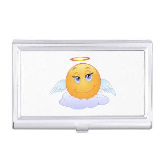 Angel smiley business card holder