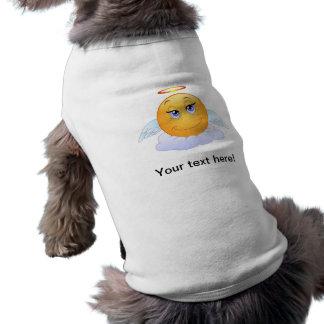 Angel smiley dog tee shirt