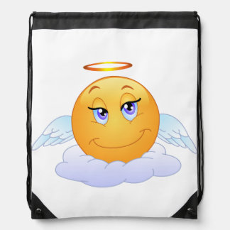 Angel smiley drawstring bag