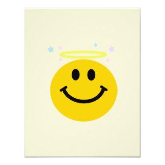 "Angel Smiley face 4.25"" X 5.5"" Invitation Card"