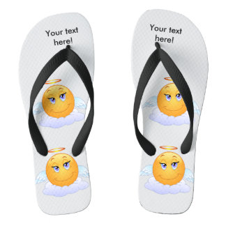 Angel smiley flip flops