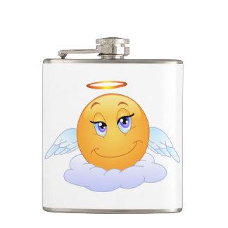Angel smiley hip flask