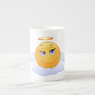 Angel smiley tea cup