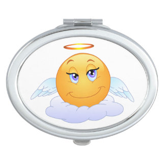 Angel smiley vanity mirror
