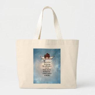 """Angel """"So Loved"""" Large Tote Bag"""