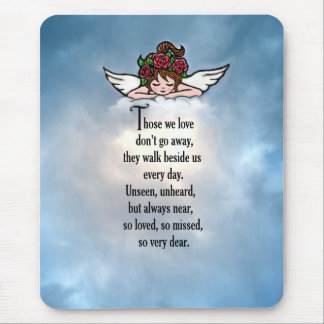 """Angel """"So Loved"""" Mouse Pad"""