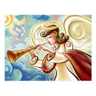 Angel Sounding A Trumpet Postcard