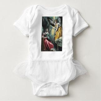 Angel Speaking to Mary Baby Bodysuit