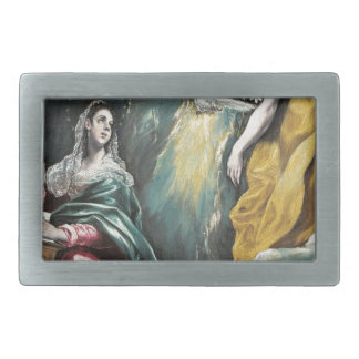 Angel Speaking to Mary Rectangular Belt Buckle