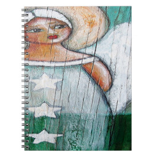 ANGEL SPIRAL Notebook (80 Pages B&W)