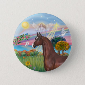 Angel Star- Brown Arabian Horse 2 Inch Round Button