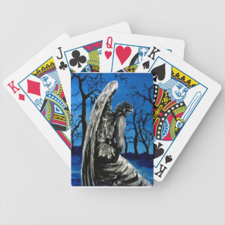 Angel Statue in Winter Bicycle Playing Cards