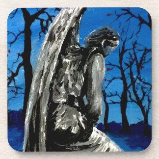 Angel Statue in Winter Coaster