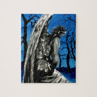Angel Statue in Winter Jigsaw Puzzle