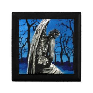 Angel Statue in Winter Keepsake Boxes