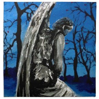 Angel Statue in Winter Napkin