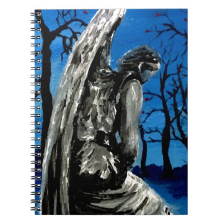 Angel Statue in Winter Note Book