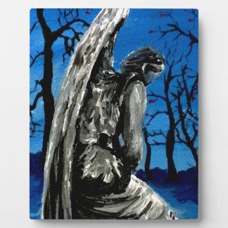 Angel Statue in Winter Plaque