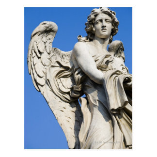Angel statue, Ponte Sant'Angelo, Rome, Italy Postcard