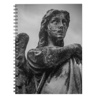 Angel Statue Spiral Note Book