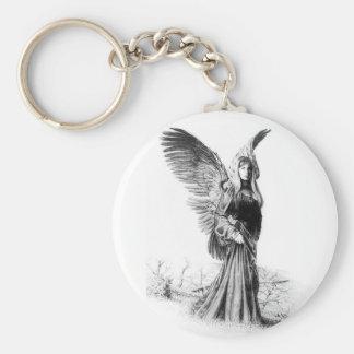 angel tattoo keychain