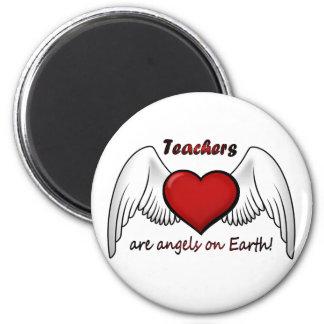 Angel Teachers Round Magnet