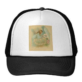 Angel Tending a Baby in a Bassinet Trucker Hat