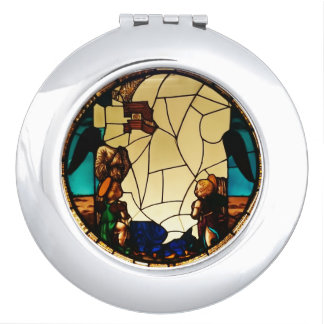 Angel through the glass compact mirror