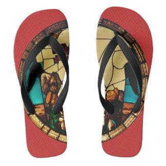 Angel through the glass flip flops