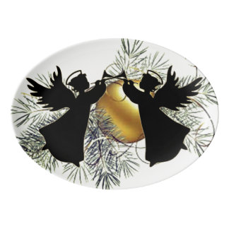 Angel Trumpets Porcelain Serving Platter