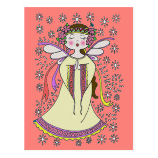 Angel Ukrainian Folk Art Postcard