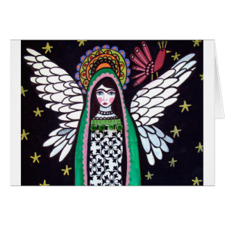Angel Virgin of Guadalupe Art by Heather Galler Card