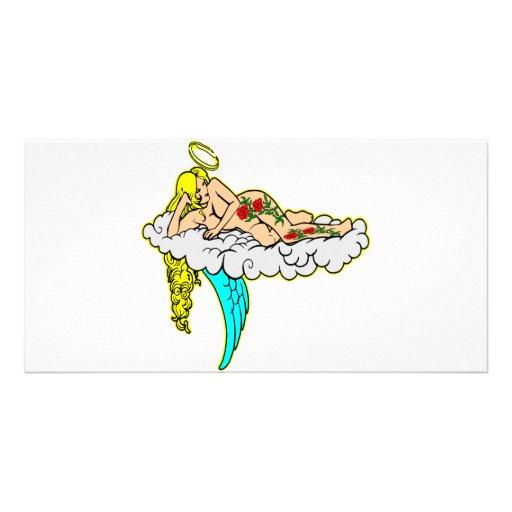 Angel w/ Tattoo Art Photo Card Template