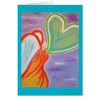 Angel walking greeting card