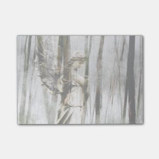 Angel Walks Through Winter Post-it Notes