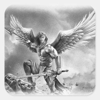 ANGEL WARRIOR SQUARE STICKER