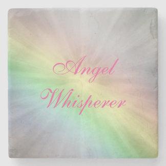 Angel Whisperer design Stone Beverage Coaster