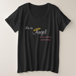 Angel Who Swears Sometimes Plus Size T-Shirt