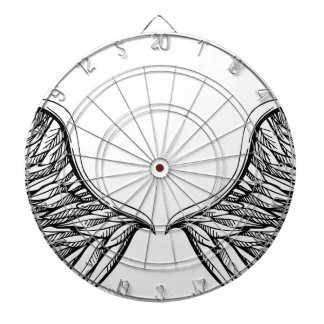 Angel Wing Drawing Graphic Dart Board