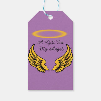 Angel Wings and Halos Customize Gift Tags