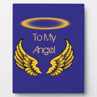 Angel Wings and Halos Customize Plaque