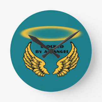 Angel Wings and Halos Customize Round Clock