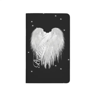 ANGEL WINGS 'Believe' Heart Black Starry Journal