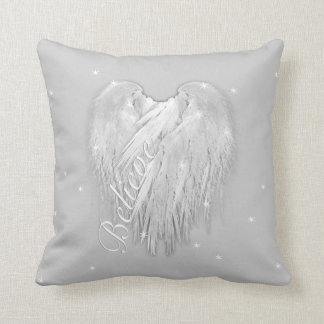ANGEL WINGS 'Believe' Heart Starry Sparkle Throw Pillow