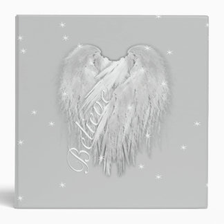 ANGEL WINGS 'Believe' Magic Heart 3 Ring Binder